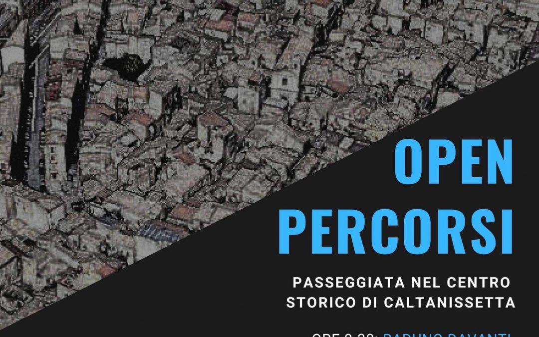 """""""Connessione tra le zone del Centro Storico di Caltanissetta"""" è il messaggio della passeggiata di Open"""