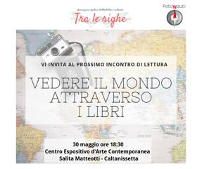 Vedere il mondo attraverso i libri: un incontro tra pagine, fotografia e musica a Caltanissetta