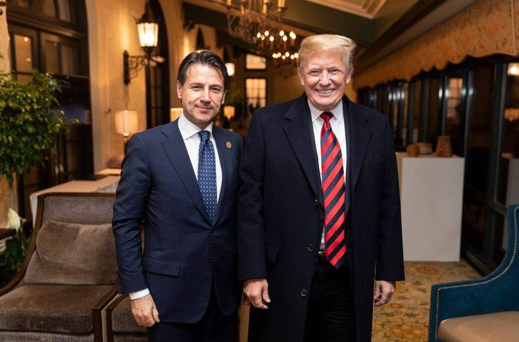 Il sostegno pubblico di Trump a Conte  rappresenta una novità assoluta nei rapporti tra i due Paesi