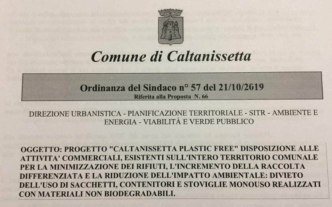 Caltanissetta plastic free, l'ordinanza invisibile