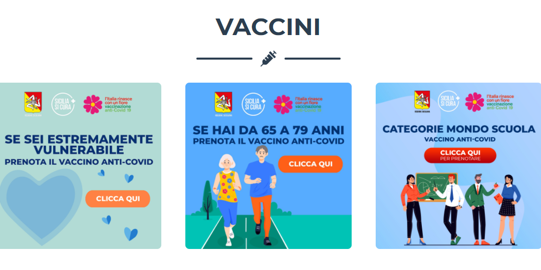 Caltanissetta: Al via le prenotazioni vaccino anti Covid-19 per la categoria 65-79 anni