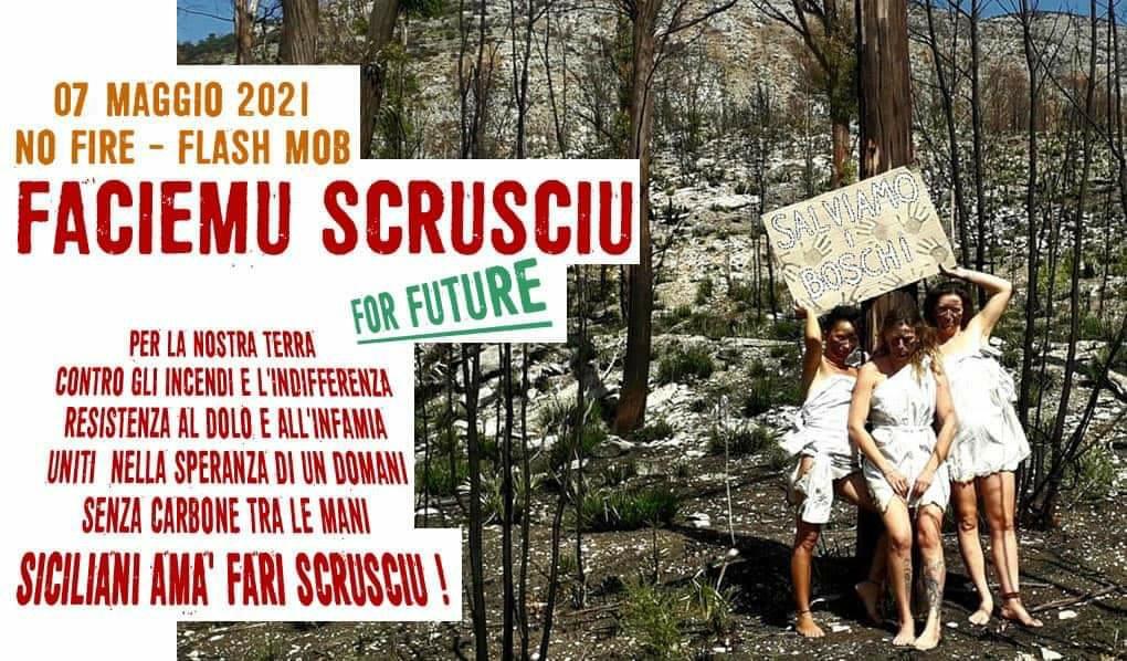 """""""Faciemu Scrusciu"""" for future: flash mob contro gli incendi"""