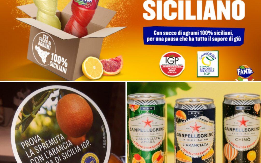 Gli agrumi di Sicilia IGP e/o BIO conquistano le multinazionali: Coca-cola, McDonald's e Sanpellegrino.